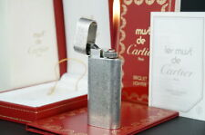 Cartier Lighter CA120037 Satine mini Silver plated w/Box Working Vintage  #CL07