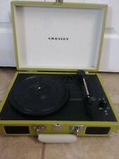 Crosley CruiserDelux3-Speed Turntable-green-2013, For Parts or Repair