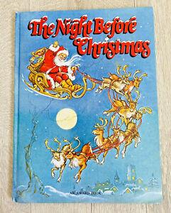Vintage The Night Before Christmas Book Rene Cloke Illustrations Award 80s 1985