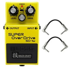 BOSS SD-1W SUPER Overdrive Waza Craft Special Edition Pedal + Patch Cables