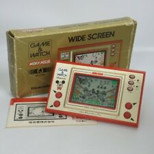 LCD MICKEY MOUSE Wide Screen Game Watch Boxed MC-25 Tested Nintendo JAPAN 2601