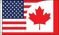 3x5 USA Canada Combination Flag Canadian American Super-Poly 3'x5' Flag Grommets