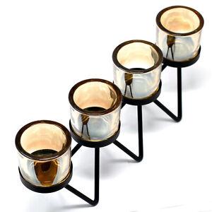 Centrepiece Iron votive candle holders. Black. Home Decor. Gift Idea. Table wear