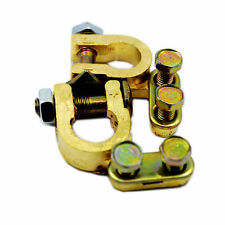 BATTERY TERMINAL CONNECTOR PAIR BRASS CLAMP POSITIVE AND NEGATIVE gg