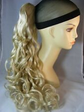 "Hairpiece Clip-on Champagne Blonde # 22-- by Mona Lisa 20"" Synthetic"