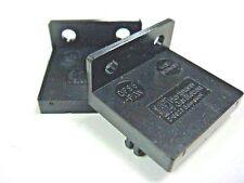 (2) DPS8PW PUSHWHEEL SWITCH END MOUNTING PLATES FLANGED HOLES TYCO DPS8 ALCO