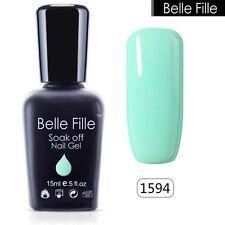 BELLE FILLE Color Gel Soak Off Nail Art LED UV Gel Polish Gel Lacquer Manicure
