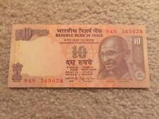 India 10 Rs Ascending Order Fancy Number '345678' UNC Condition