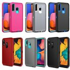 For Samsung Galaxy A20 A30 Case Shockproof Armor Cover+Tempered Glass Protector