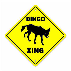 Dingo Crossing Decal Zone Xing | Indoor/Outdoor | Tall australia outback dog
