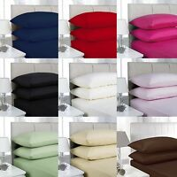 "Extra Deep 40cm (16"") 100% Egyptian Cotton Fitted Sheet 200 Thread Count Luxury"