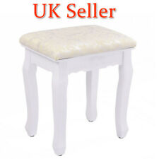 Vintage Padded Dressing Table Stool Makeup Chair Piano Music Seat White,UK SHIP