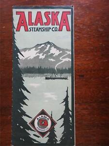 Alaska Steamship Company 1922 Americana illustrated tourism brochure steamers