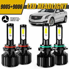 9006+9005 LED Headlight 4200W 630000LM Hi-Lo Beam Kit 6000K HID Lamp Power QDW