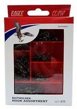 Eagle Claw Baitholder Hook Assortment, 211 pc, Asst sizes, Bronze #BAITHASST1
