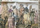 """Vintage Tapestry Victorian Travel Scene 32"""" by 50"""""""