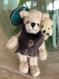 "Bearington Collection PETE #3698 2003 Plush 5"" Miniature Bear w/Tiny Bear NWT🧸"