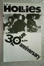THE HOLLIES CONCERT TOUR FLYERS PLUS 30TH ANNIVERSARY PROGRAMME