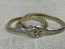 Vintage Gold Tone Metal Snake Chain Women's Belt * SMALL
