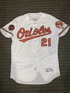 Austin Hays Baltimore Orioles Game Used Worn Jersey 2019 MLB Auth