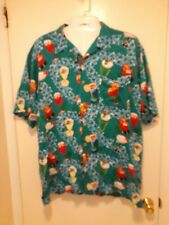 Cherokee Waikiki Wear Short Sleeve FrontButton Hawaiian Cocktail Men's Shirt 2xL