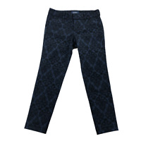 Old Navy Women's Pants Size 4P Pixie Mid-Rise Navy Black Lace Overlay Skinny