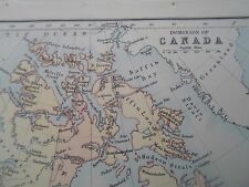 Antique Map 1890 DOMINION OF CANADA  From Philips Atlas For Beginners  §26a