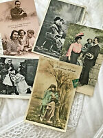 Lot 5 Vtg French France Postcard RPPC WWI Family Mother Father Child 007