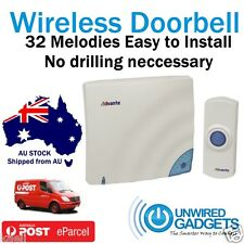 NEW Long Range Wireless Doorbell. DIY NO DRILLING REQUIRED for Shop Home