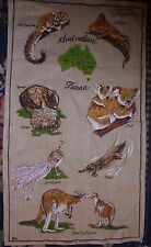 Corryong Cottage Crafts tea towel kitchen souvenir chic Australian Fauna animals