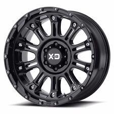 17x9 BLACK rims XD829 HOSS 2 2007-2017 LIFTED CHEVY GMC 1500 Trucks 6x5.5 -12mm