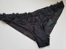 RRP £50.00 Hipster Briefs Black BNWT Myla Body Silk Medium 94/% Silk