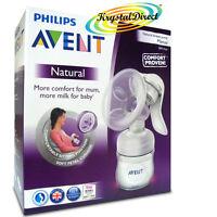 Philips Avent SCF330/20 Comfort Natural Manual Breast Pump & Bottle BPA Free