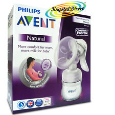 Philips Avent SCF330/20 Comfort Natural Manual Breast Pump & Bottle BPA Free