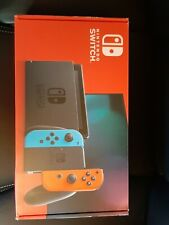 EMPTY BOX!! Nintendo Switch Neon Blue And Red V2 Console BOX ONLY