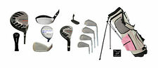 TALL LADIES LEADER SERIES GOLF SET w/DRIVER + WOODS + IRONS + PINK BAG + PUTTER