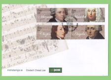 Ireland 2009 Classical Musicians set on First Day Cover