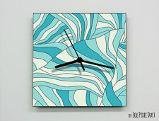 Abstract texture with wavy stripes Wall Clock