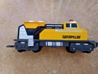 "Caterpillar O Scale Train 12"" Plastic Locomotive Motorized Engine Toy State"