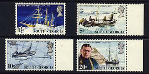 SOUTH GEORGIA QE II 1972 50th Anniversary of  Shackleton Set SG 32 to SG 35 MNH