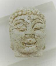 ANCIENT GANDHARAN STONE BEAD BUDDHA HEAD CA 200-300AD WEARABLE