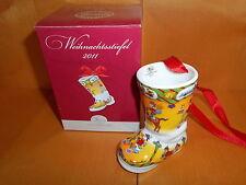 Hutschenreuther Weihnachtsstiefel  2011  Motiv  Transport  Neu OVP Porzellan