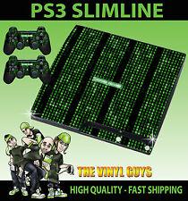 Playstation Ps3 Slim Código de la matriz de falla del sistema adhesivo Skin & 2 Pad Skins