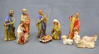 Mistletoe Mountain 10 Piece Nativity Set Original Box Mary Joseph Jesus Wise Men