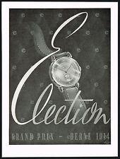 1940s Vintage 1946 Election Watch Co. Grand Prix Mid Century Modern Art Print AD