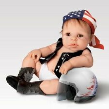 Born To Ride - Biker Babies by Sherri Rawn Ashton Drake Doll Bradford Exchange