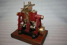 Vintage Brunel Alpha Twin Vertical Live Steam Stationary/Marine Engine Model