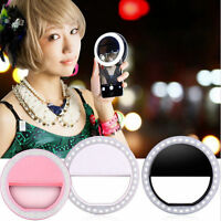 Selfie Portable LED Lamp Ring Fill Light Camera Photography for Most Cell Phone
