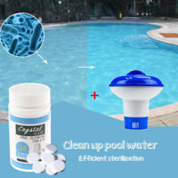Pool Cleaning Tablets Disonfectant Swimming Pool Clarifier Floating Dispenser EF
