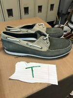 Timberland Boat Shoes CLS 2 Eye Lo Leather Gray Topsiders Size 14
